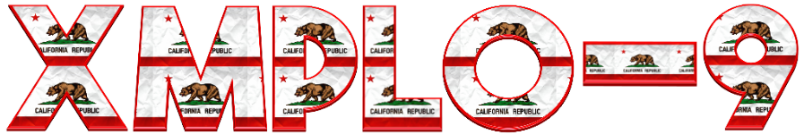 California 3D Graphic Text v01