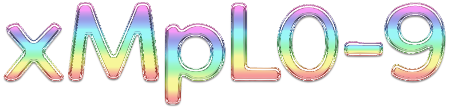 Rainbow Glass 3D Graphic Text v01
